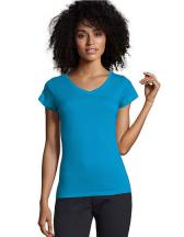 Ladies` V-Neck-T-Shirt Moon